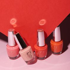 Color your summer with California Dreaming. From left to right: Time for a Napa, Excuse Me Big Sur, Me Myselfie and I, Santa Monica Beach Peach,