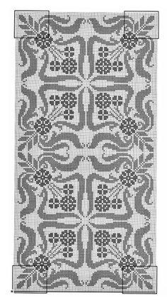 @nika Cross Stitch Borders, Cross Stitch Flowers, Cross Stitch Designs, Cross Stitch Patterns, Filet Crochet, Crochet Motif, Knit Crochet, Crochet Patterns, Baroque