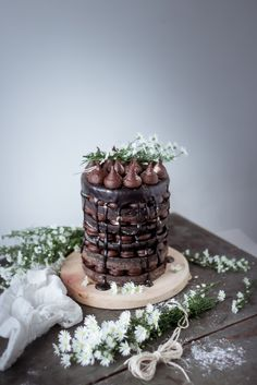 Chocolate Naked Layer Cake Recipe
