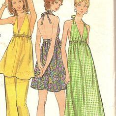 1970s Halter Dress Pattern Butterick 6655 Bust 36 by CherryCorners, $8.00