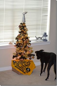 Steelers Christmas tree. Haha this sounds like something my dad would think of.