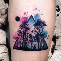 Ich liebe Aquarell-Tattoos Source tattoo designs, tattoo, s Mini Tattoos, Dreieckiges Tattoos, Body Art Tattoos, Sleeve Tattoos, Tatoos, Diy Tattoo, Tattoo Fonts, Tattoo Ink, Tattoo Ideas