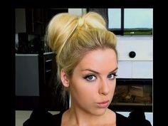 How To: Bow Bun Updo Hair Tutorial