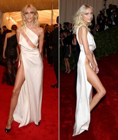 Anja Rubik in a dress from Anthony Vaccarello's spring 2012 collection. Certainly turns heads.