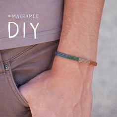 🌈 macrame for beginners - bracelet tutorial 🌈 Diy Bracelets Patterns, Macrame Bracelet Patterns, Diy Bracelets Easy, Macrame Jewelry, Handmade Bracelets, Macrame Bracelet Tutorial, Handmade Wire Jewelry, Diy Crafts Jewelry, Bracelet Crafts