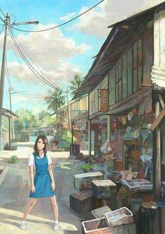 Awesome artwork from top Malaysian illustrator, Cheong Fei Giap