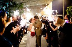 Jewish Wedding Photo with Sparklers - Mazelmoments.com