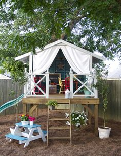 Stilted tent playhouse...