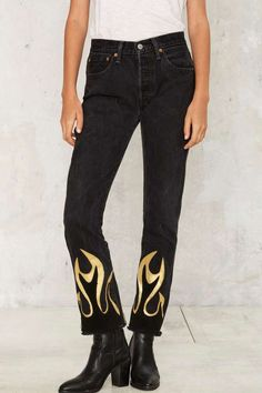After Party by Nasty Gal Hang Fire Jeans - After Party | After Party I | Grunge | Fall Essentials | Skinny