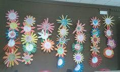 Zomerde bloemen muur