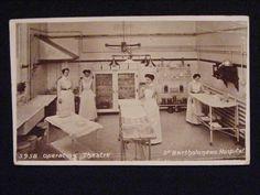 RARE 1909 OPERATING THEATRE ST BARTHOLOMEWS HOSPITAL LONDON POSTCARD NURSING