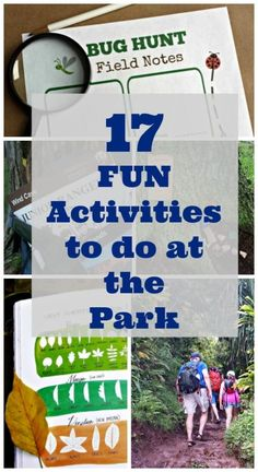 17 Fun Things to Do at the Park - nature activities, games, ways to explore & more outdoor ideas! Fun & easy outdoor activities for kids, families, scout troops and youth groups! Outdoor Activities For Kids, Outdoor Learning, Craft Activities For Kids, Fun Learning, Learning Activities, Preschool Activities, Outdoor Play, Inspired Learning, Spring Activities