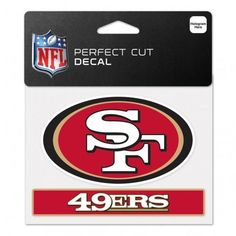 San Francisco 49ers Decal 4.5x5.75 Perfect Cut Color Special Order