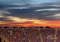 """""""Bronco Stadium at Sunset"""" by Renee Bartle, renee-mphotography.com"""