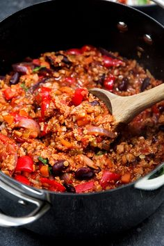 Three bean mexican chilli pinterest bbc mexicans and beans easy vegan chilli con carne forumfinder Choice Image