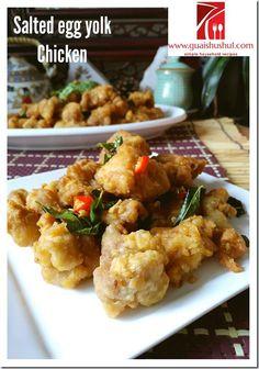 Salted Egg Yolk Chicken (金莎鸡块 或 咸蛋牛油鸡) #guaishushu #kenneth_goh #salted_egg_yolk