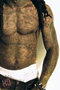 Diz-amn! Lil Wayne is looking fine as always! lt;3 Lil Wayne lt;3 | tattoos picture lil wayne tattoo