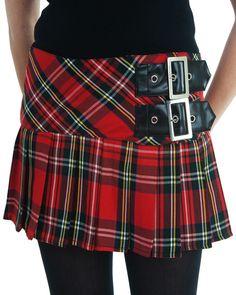 Hell Bunny Reform Schoolgirl Skirt - Red :: VampireFreaks Store :: Gothic Clothing, Cyber-goth, punk, metal, alternative, rave, freak fashio...