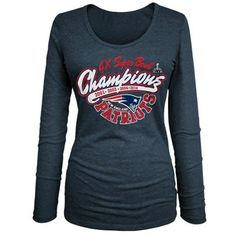 Women's New England Patriots 5th & Ocean Navy Blue Burnout Oversized T-Shirt