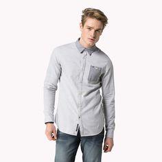 Hilfiger Denim Andreas Long Sleeve Shirt - light grey htr (Grey) - Hilfiger Denim Casual Shirts - main image