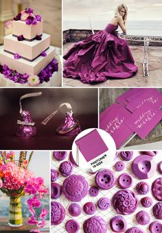 Pantone Color of the Year 2014-Radiant Orchid Wedding Ideas and Wedding Invitations