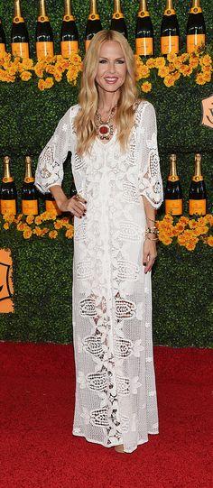 Rachel Zoe in a boho lace dress
