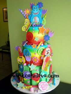 Baby Einstein Cake. I love the different colors. Love it!!!