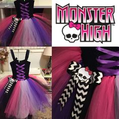 Monster High tutu dress #halloweencostume #tutudress