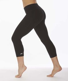 Another great find on #zulily! Black Carrie Ultimate Slimming 22'' Capri Leggings #zulilyfinds