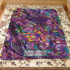 New Lilly Pulitzer Pink Floral Custom Design Blanket