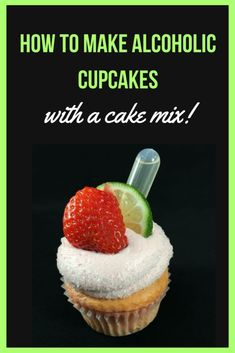 to make alcoholic with a mix! - Sugar Love StudiosHow to make alcoholic with a mix! Liquor Cupcakes, Drunken Cupcakes, Alcohol Infused Cupcakes, Alcoholic Cupcakes, Cake Mix Cupcakes, Alcohol Cake, Alcoholic Desserts, Cupcake Cakes, Cocktail Cupcakes
