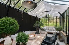 Pergola In Front Of Garage Outdoor Rooms, Outdoor Gardens, Outdoor Living, Outdoor Decor, Indoor Outdoor, Orangerie Extension, Outside Living, Green Rooms, Glass House