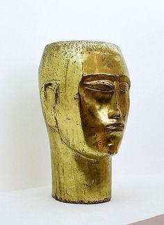 Zadkine portrait head, Zadkine museum, Paris