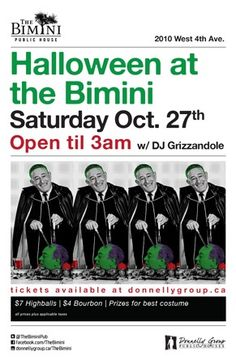 Halloween Saturday at The Bimini - Saturday, October 27th