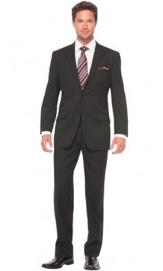 Jacquard Shadow Stripe Classic Fit Suit - Black - Bachrach