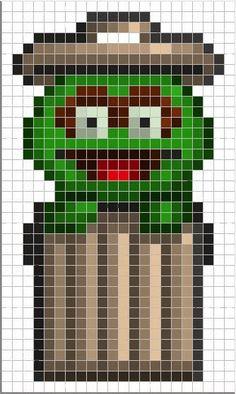 Luvs 2 Knit: Sesame Street perler bead pattern