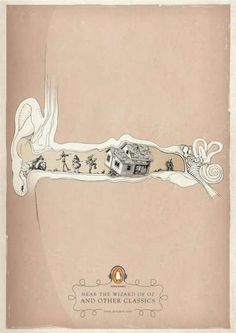 Ear Canal Campaigns:  The Penguin Audio Books Print Ads Want You to Hear the Art of Storytelling (by Y&R, Malaysia)