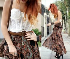 Paisley & lace (by Lua P) http://lookbook.nu/look/2113761-Paisley-lace