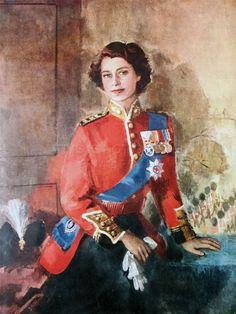 Painting of Queen Elizabeth II Die Queen, Hm The Queen, Her Majesty The Queen, Save The Queen, Princesa Margaret, Princess Elizabeth, Queen Elizabeth Ii, Portrait Art, Portraits