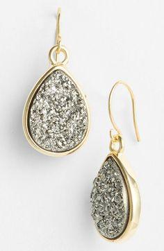 Drusy Teardrop Earrings