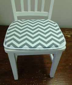 $33 One Tufted Cushion/Chair Pad In Aqua Natural Chevron Zigzag  Pattern,Seat Cushion For Chair, Rocker,Rocking Or Dining Chair,Patio,    Kitchen   Pinterest ...