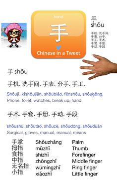 Learn Chinese with NihaoHello: Chinese in a Tweet: Hand 手