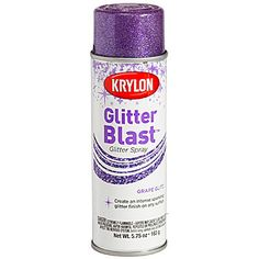 This Purple Glitter Blast Spray Paint lets you spray on the sparkle with ease. Each can contains 5 3/4 ounces of Purple Glitter Spray Paint.