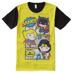 Chibi Heroes Dancing All-Over-Print T-Shirt - click to get yours right now!