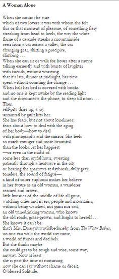 Denise Levertov - One of my favorite poems.