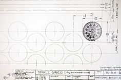 William A. Turniers 1952 blueprint for the Oreo cookie - Photo by Jeremy M. Lange