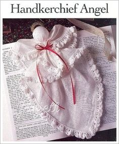 Details about Handkerchief Angel classic holiday crochet pattern Christmas Angels, Christmas Crafts, Xmas, Fabric Crafts, Sewing Crafts, Handkerchief Crafts, Holiday Crochet Patterns, Diy Angels, Angel Crafts
