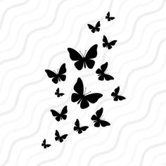 Check out our butterfly clipart selection for the very best in unique or custom, handmade pieces from our papercraft shops. Butterfly Clip Art, Butterfly Design, Butterfly Stencil, Butterfly Tattoos, Flower Tattoos, Cricut Craft Room, Cricut Vinyl, Silhouette Art, Silhouette Studio