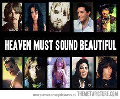 George Harrison, Amy Whinehouse, KURT COBAIN, Elvis, Jimi Hendrix, Freddie Mercury, John Lennon, Janis Joplin, Michael Jackson, Jim Morrison.