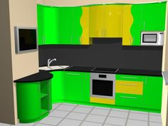 кухни с вент. коробом П44 Design